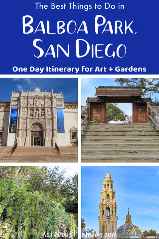 Love art and gardens? Check out this ultimate one day Balboa Park itinerary! See the Japanese Garden, the Rose Garden, the Museum of Art, and the Timken Museum at this San Diego cultural park! #californiatravel