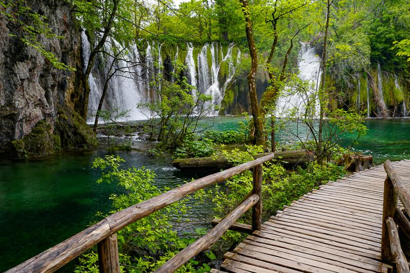 Boardwalk at Plitvice Lakes NP Croatia