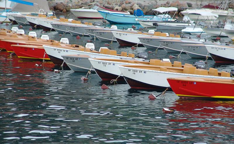 Boats on Catalina Island California USA