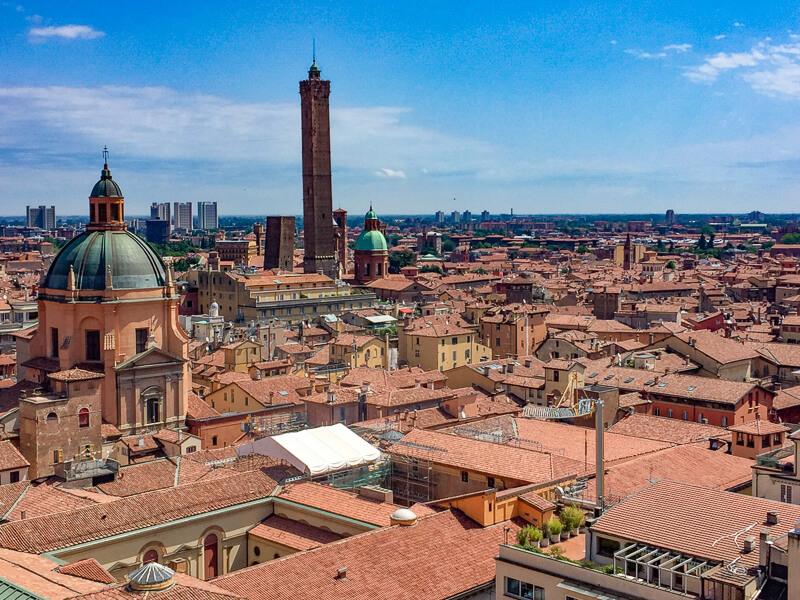 Bologna in Emilia-Romagna Italy