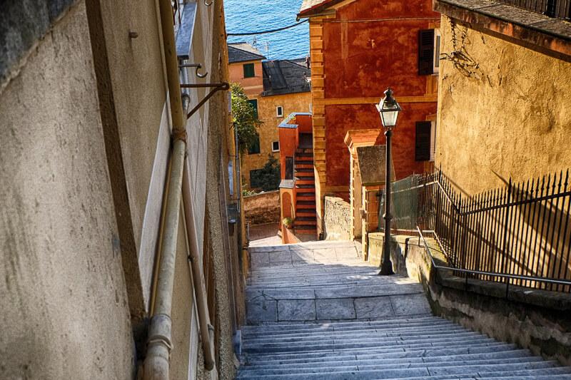 The Ligurian village of Camogli in Northern Italy