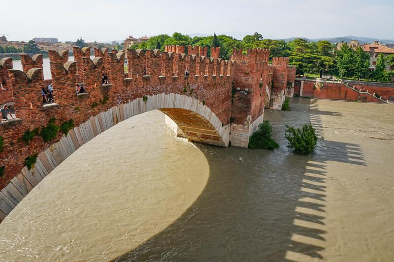 Castelvecchio Bridge in Verona Italy