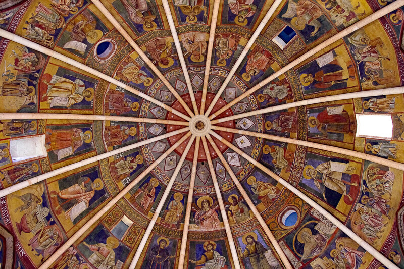 Ceiling of Baptistery Parma Italy