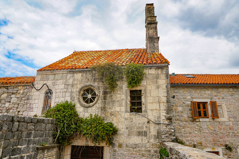 Church of Santa Maria in Punta Old Town Budva Montenegro