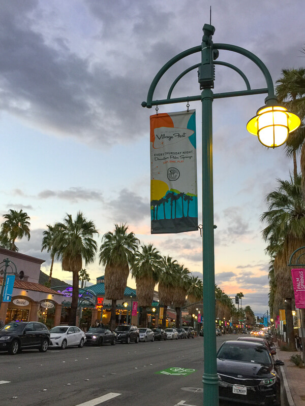 Downtown Palm Springs California USA