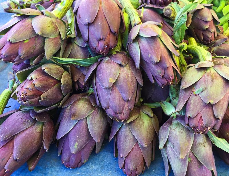 Fresh artichokes Zadar Market Croatia