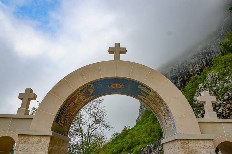 Gateway to Upper Ostrog Monastery in Montenegro