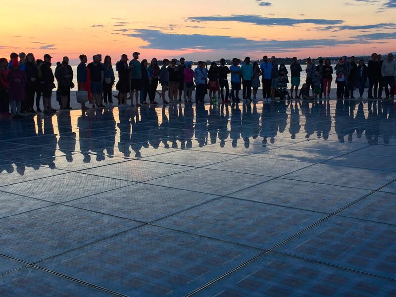 Greeting to the Sun in Zadar Croatia