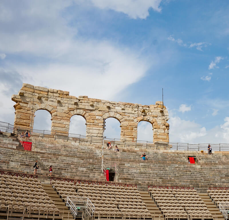 Inside the Verona Arena in Italy