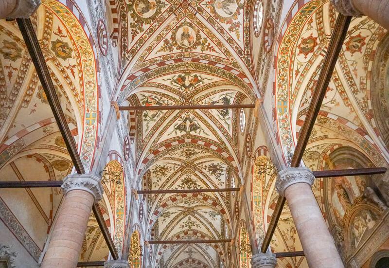 Interior Church of Saint Anastasia Verona Italy