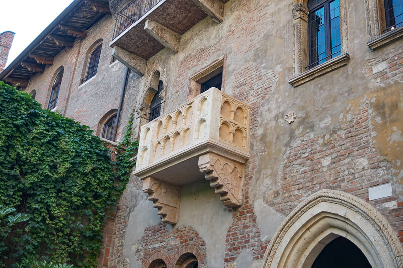 Juliet's Balcony in Verona Italy