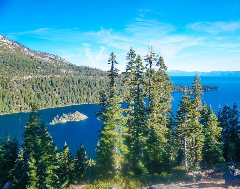 Fannette Island in Emerald Bay inLake Tahoe California USA
