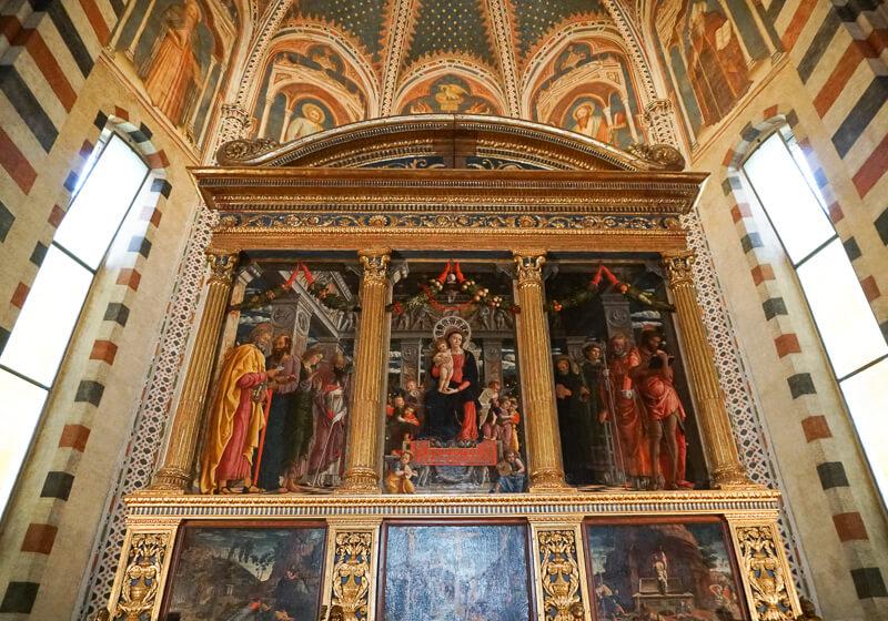 Mantegna's Altar San Zeno Verona Italy