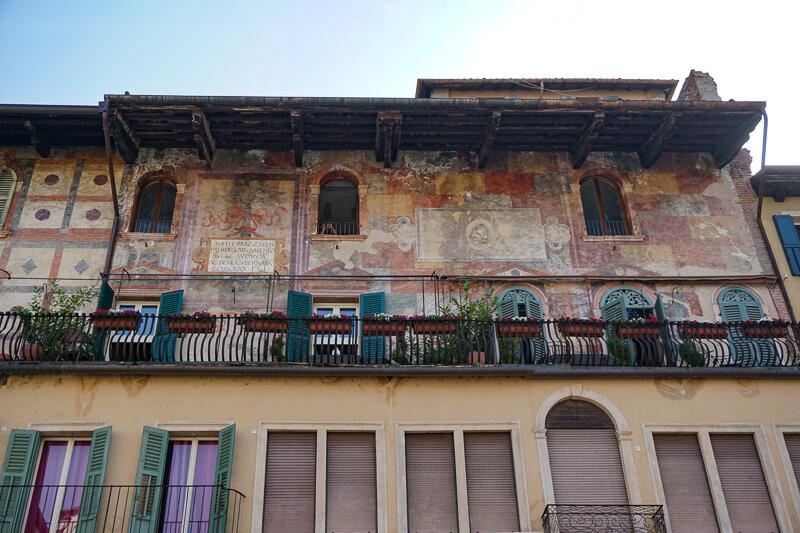Mazzanti Houses Piazza delle Erbe Verona Italy