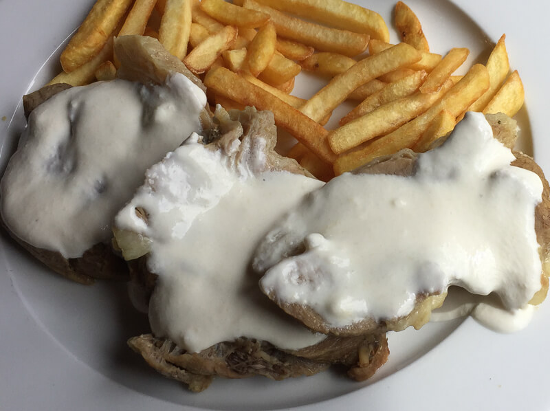 Meat and French Fries Katun Restaurant
