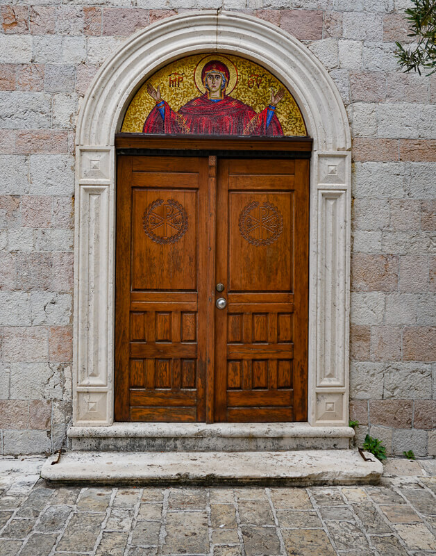 Mosaic Holy Trinity Church Budva Montenegro