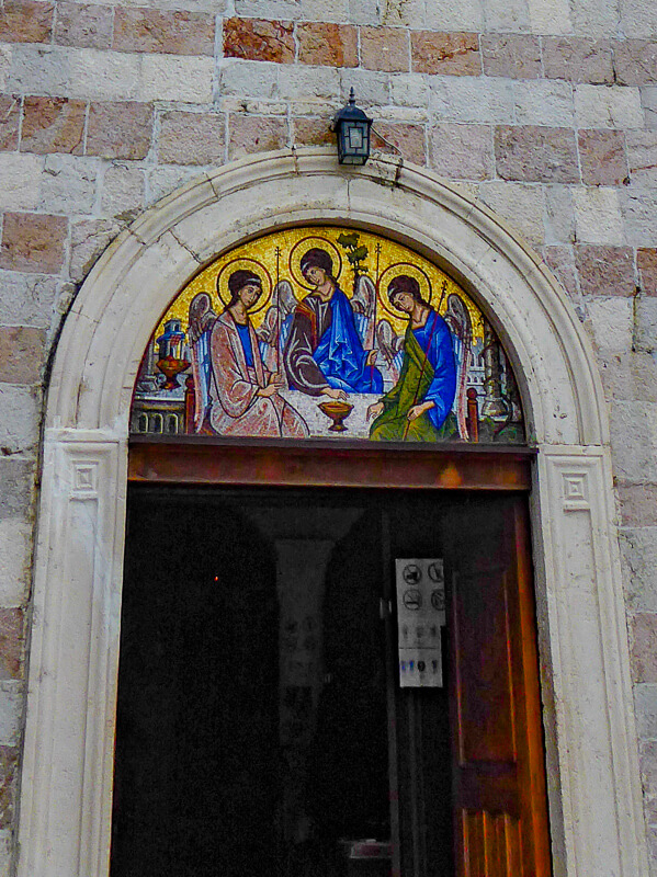 Mosaic Main Door Holy Trinity Church Budva Montenegro