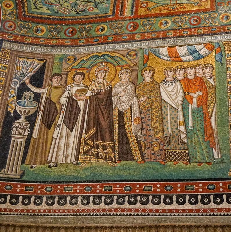 Mosaic of Theodora Ravenna Italy