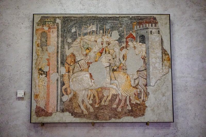 Mural Castelvecchio Museum Verona Italy