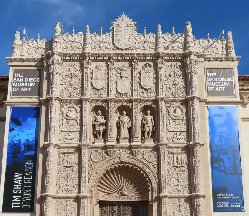 Museum of Art in Balboa Park San Diego California USA