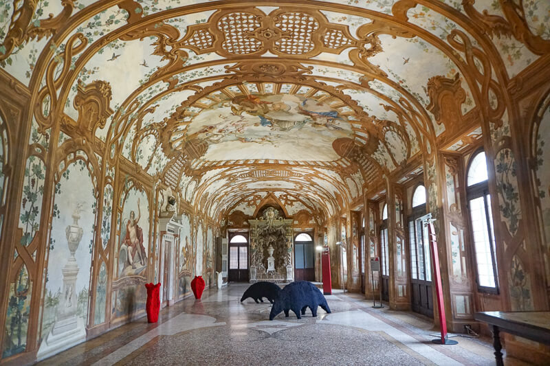 A magnificent hall in the Palazzo Ducale in Mantua Italy