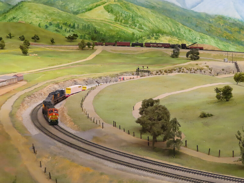 Railroad Museum in Balboa Park San Diego California USA
