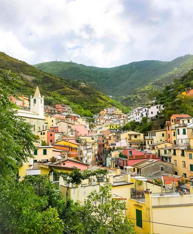 Riomaggiore one of the Cinque Terre in Italy