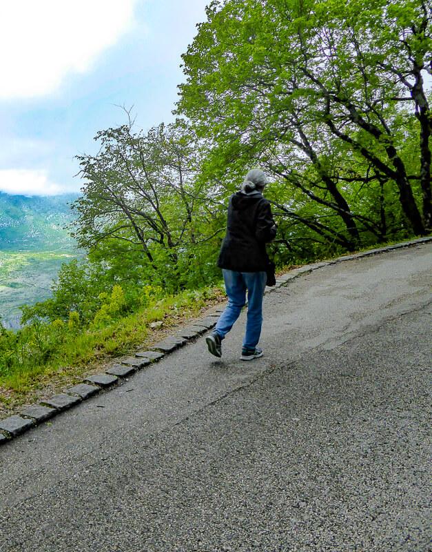 Road to Upper Ostrog Monastery in Montenegro