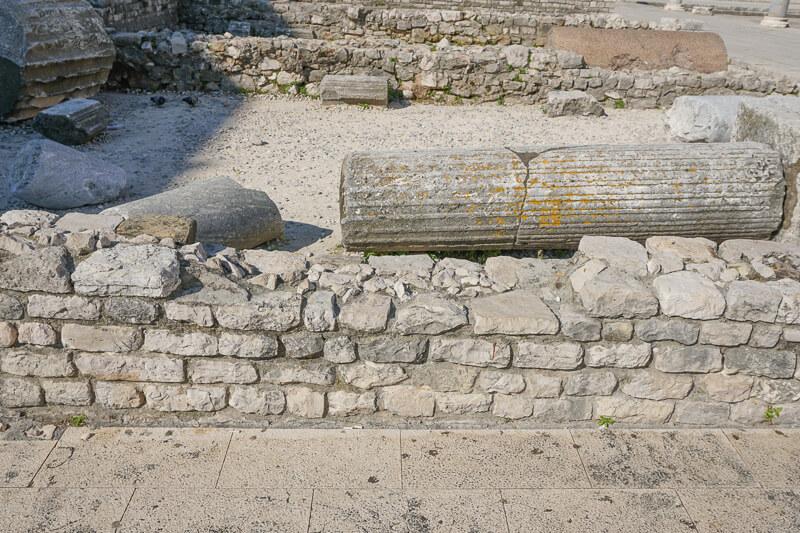 Roman Forum in Zadar Croatia