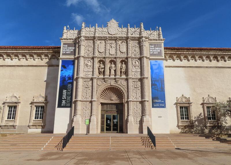 Museum of Art Balboa Park San Diego California USA