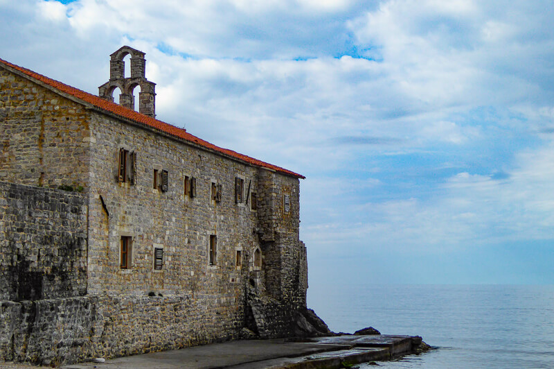 Santa Maria in Punta Church Budva Montenegro