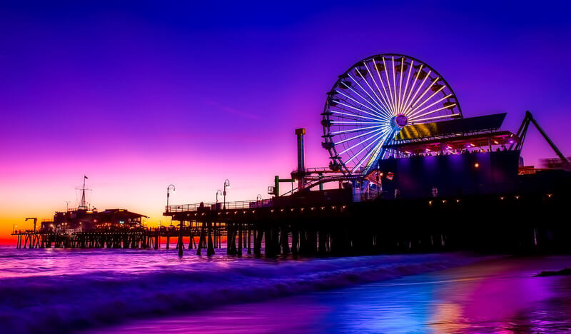 Santa Monica Pier California USA