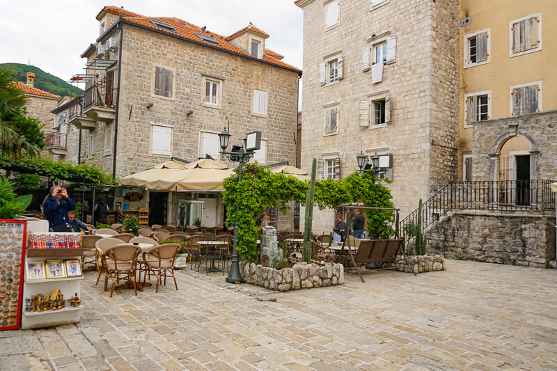 Square in Old Town Budva Montenegro