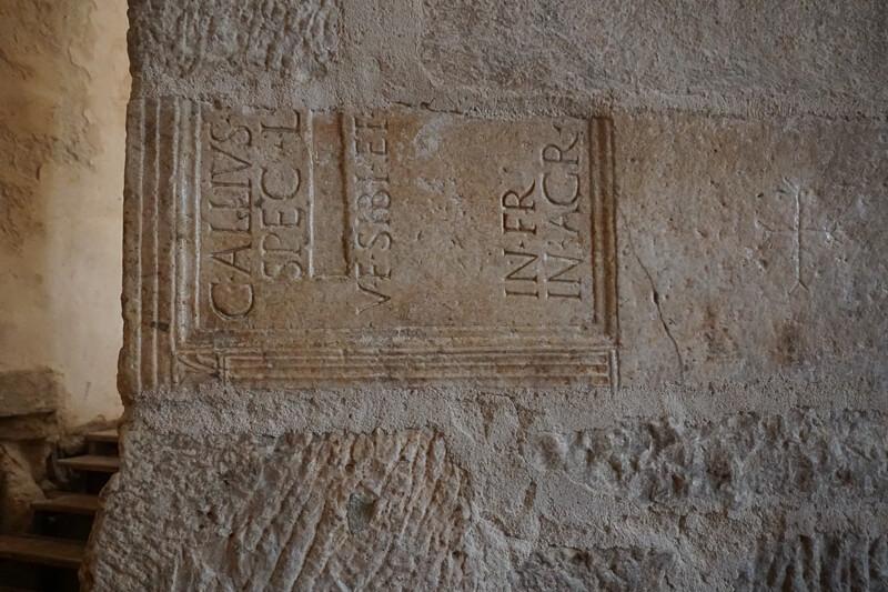 Stones from Roman Forum in Church Zadar Croatia