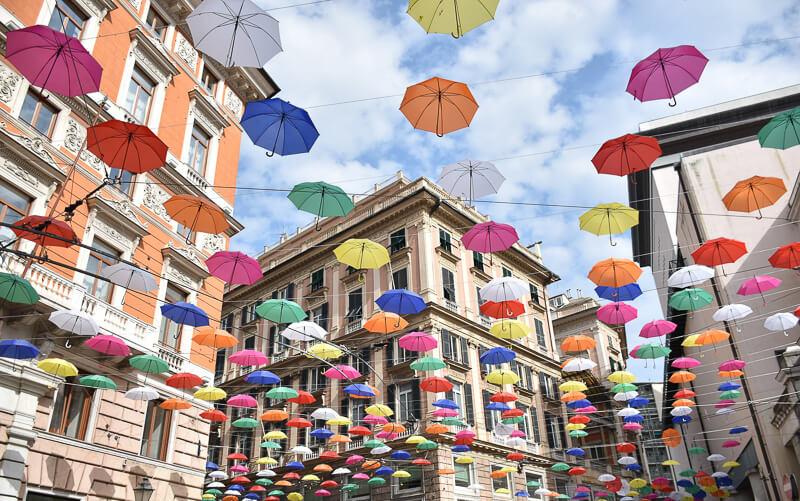 Street in Genoa Italy