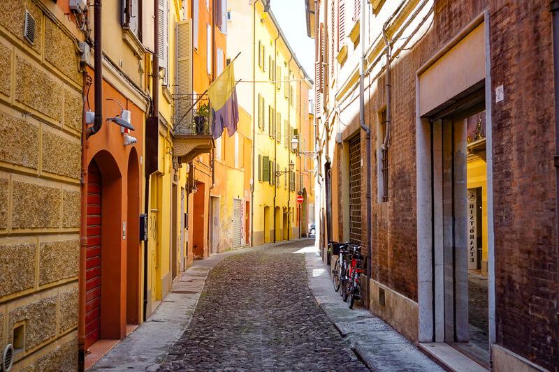 Street in Modena Italy