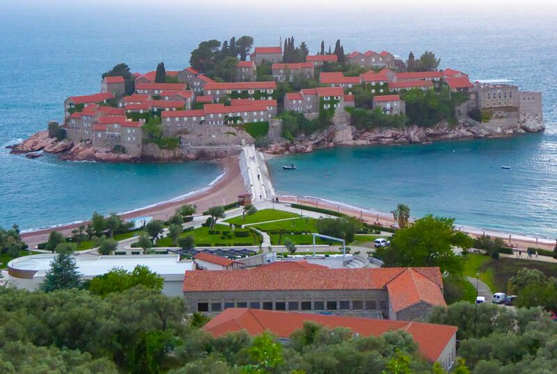 Sveti Stefan from Budva Montenegro