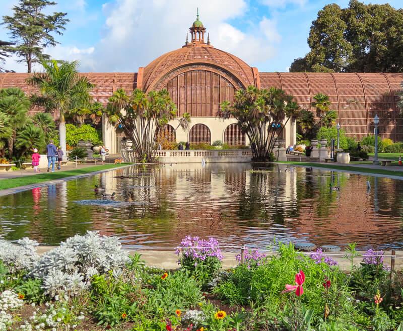 The Balboa Park Botanical Building in San Diego, California, USA