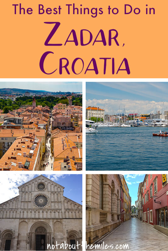 Discover the best things to do in Zadar, Croatia! Hear the Sea Organ, see the Greeting to the Sun, and explore the Old Town.