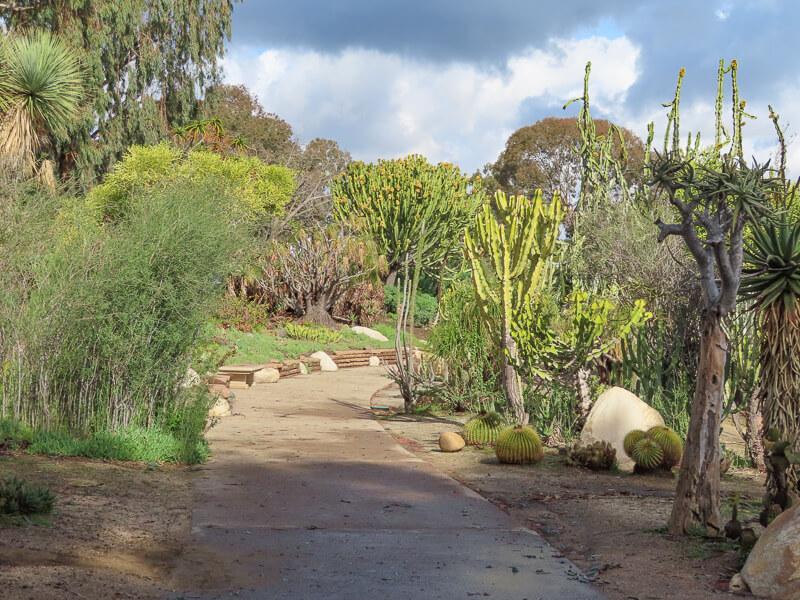 The Desert Garden at Balboa Park San Diego California USA