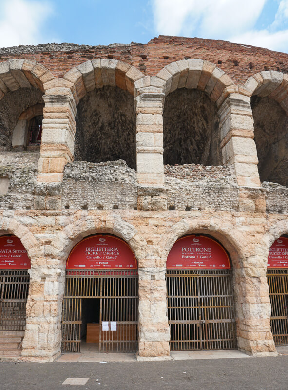 The Verona Arena in Italy