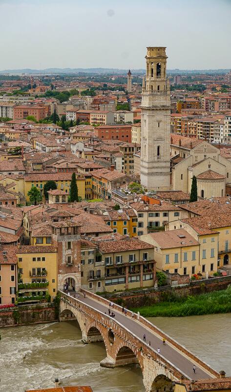 The city of Verona in Italy