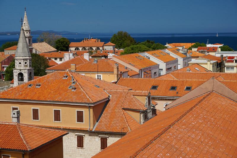 The rooftops of Zadar Croatia