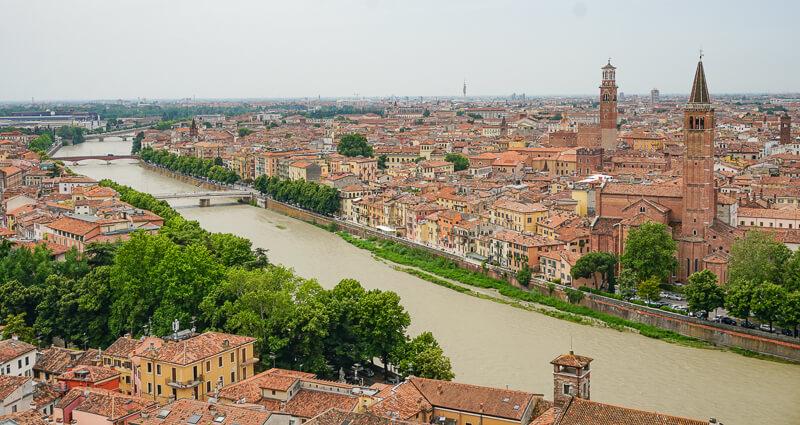 Verona Italy from Castel San Pietro