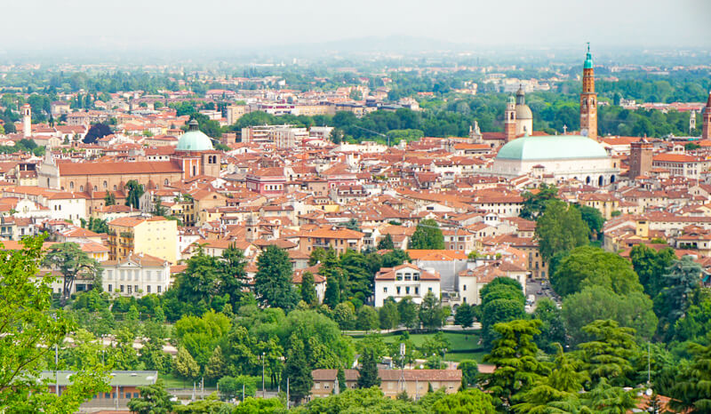 Panoramic View of Vicenza Italy