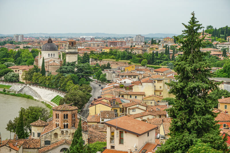 View from Funicular Verona Italy
