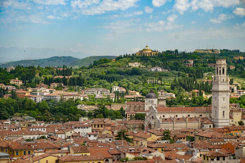 View from Lamberti Tower Verona Italy