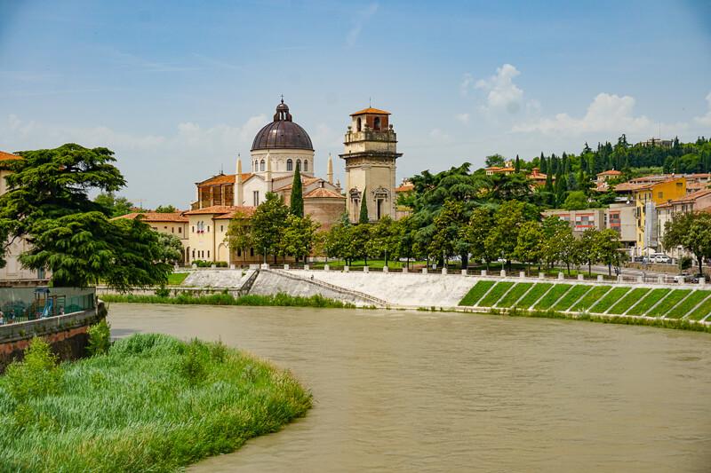 View from Ponte Pietra Verona Italy