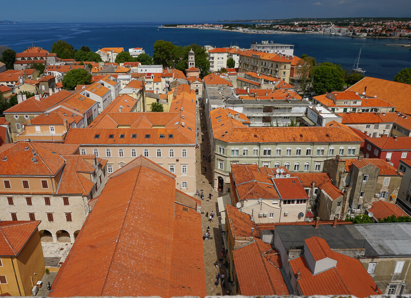 View of Old Town Zadar from Bell Tower
