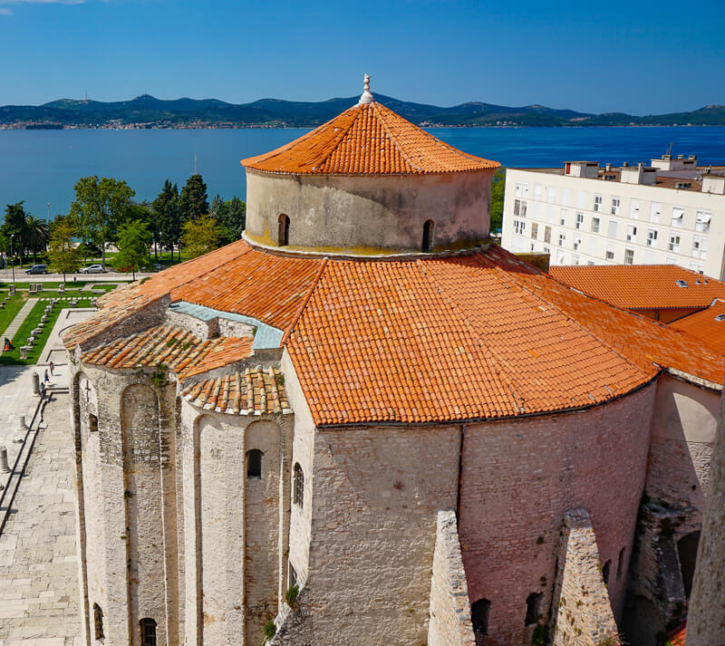 View of St. Donatus from Bell Tower Zadar Croatia